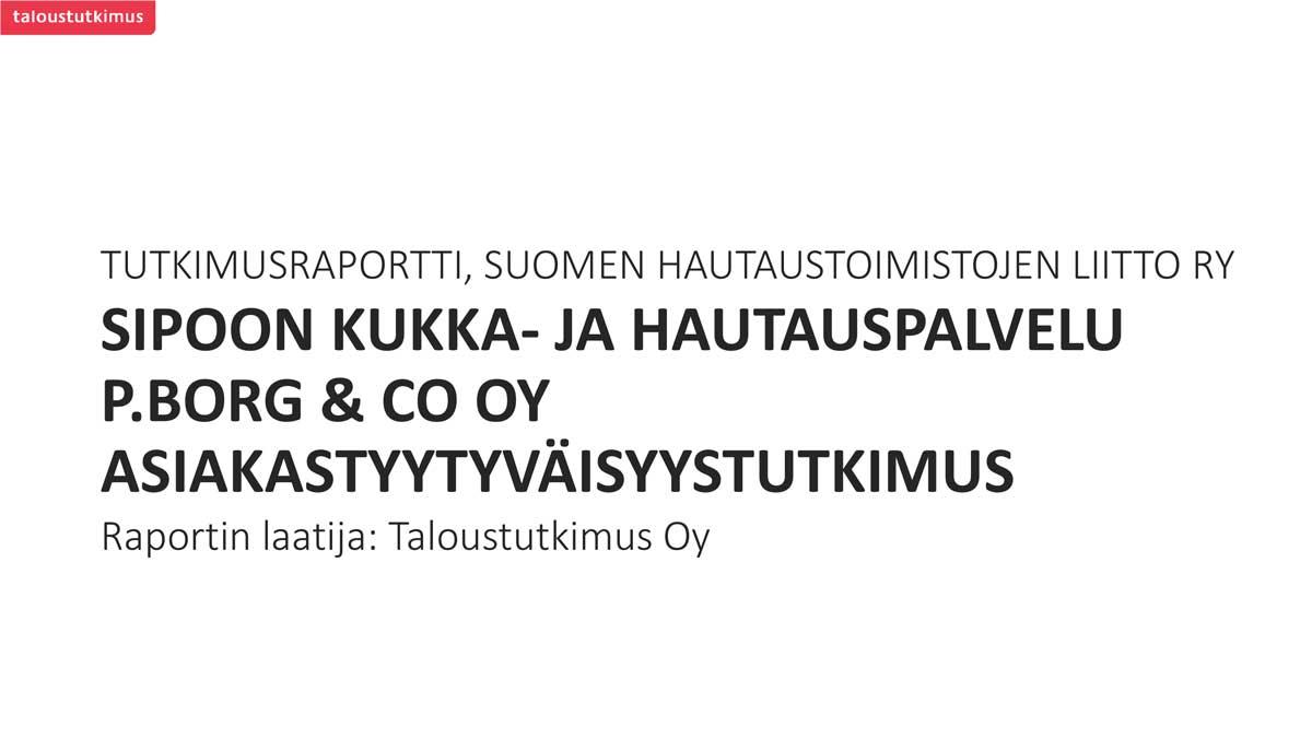 Sipoon Kukka- ja Hautauspalvelu P.Borg